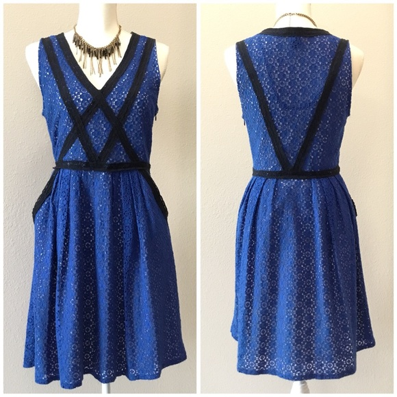 ef6a8650f8 Marc By Marc Jacobs Dresses | Blue Lace Overlay Dress | Poshmark